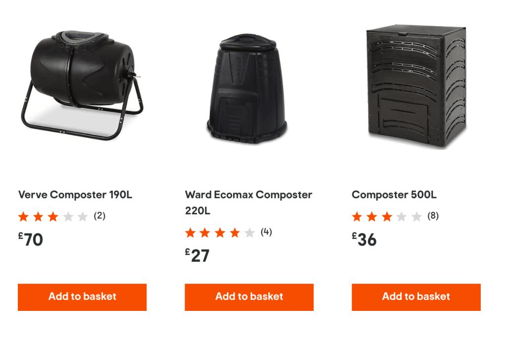 B&Q – Composters, Compost Bins