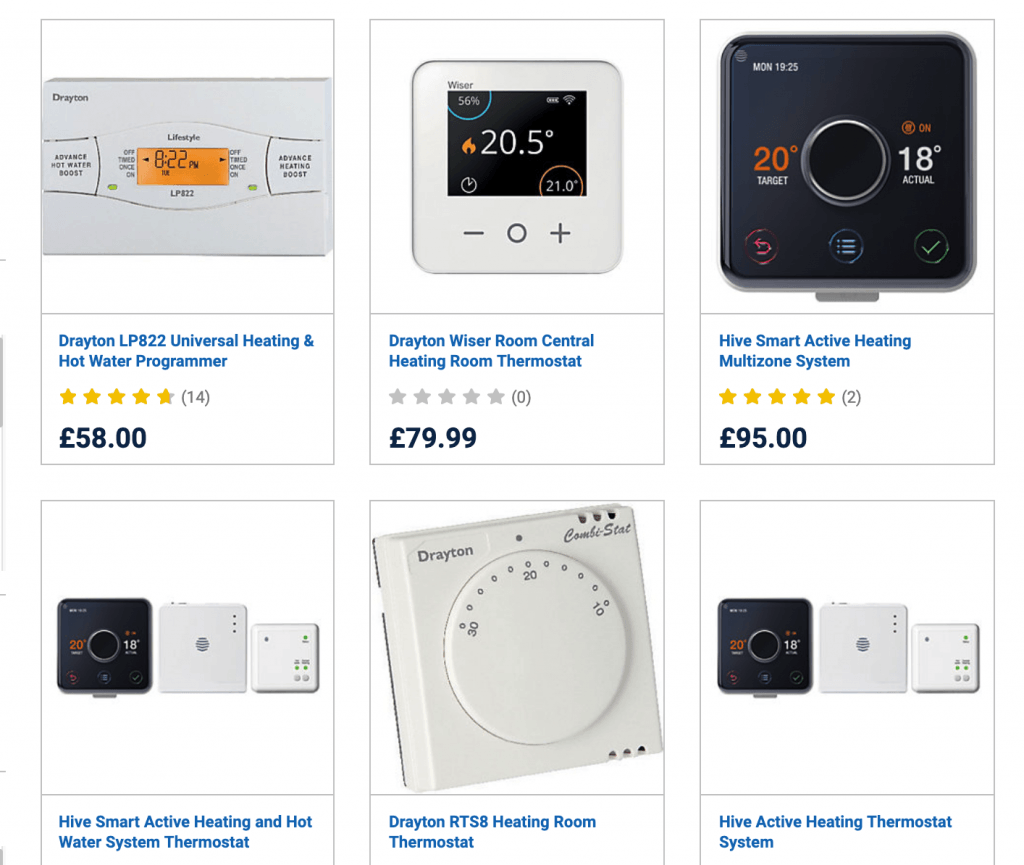 Wickes – Heating Controls