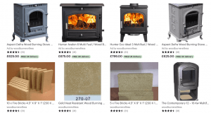 Etsy Wood burning stoves