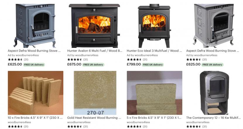 Etsy Wood burning stoves