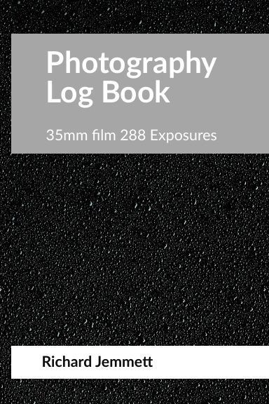 Photography Log Book cover short