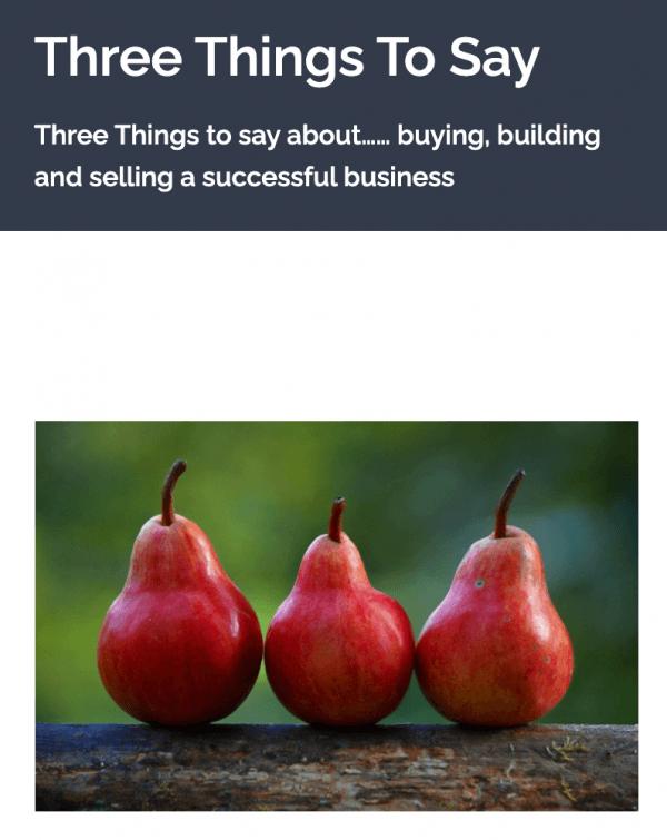 Three Things To say